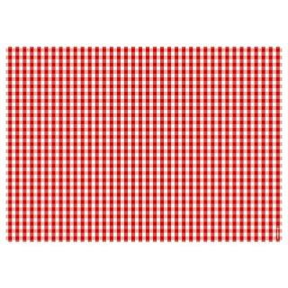 Papiertischset VICHY rot