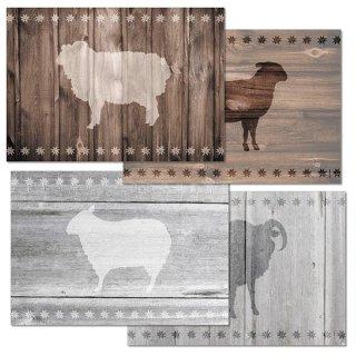 Papiertischsets SHEEP