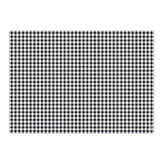 Papiertischset VICHY schwarz