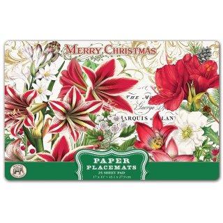 Papiertischsets MERRY CHRISTMAS