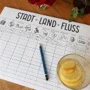 Papiertischsets STADT-LAND-FLUSS