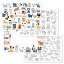 Papiertischsets CATS & DOGS
