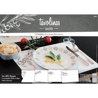 Papiertischsets PASTA -altweiss-